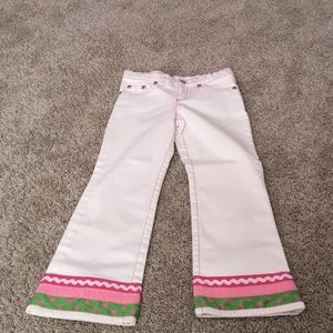 Lilly Pulitzer Girls white jeans